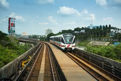 Kelana Jaya Line in Kuala Lumpur Royalty Free Stock Images