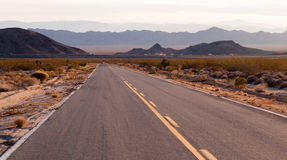 Kelbaker Road Approaches Needles Freeway US 40 California Desert Royalty Free Stock Image