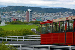 Kelburn Cable Car, Wellington New Zealand. Royalty Free Stock Photo