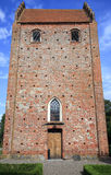 Keldby church in Mon island Royalty Free Stock Images