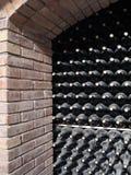 Kelder van wijn Stock Foto