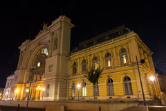Keleti Railway station at night in Budapest Royalty Free Stock Image