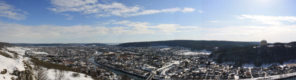 Kelheim Panorama in Wintertime Royalty Free Stock Image