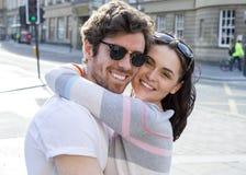 Keliga par i staden Royaltyfri Foto