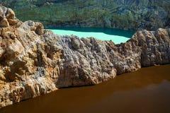 Kelimutu Krater lizenzfreies stockbild