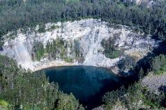 Kelimutu nationalpark med Tiwu Ata Bupu sjön Fotografering för Bildbyråer