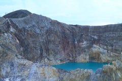 Kelimutu - unikalna jezioro cyna zdjęcia royalty free