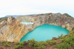 Kelimutu - unique lakes Tin and Tap Stock Images