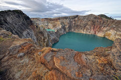 Kelimutu volcanic crater royalty free stock photos