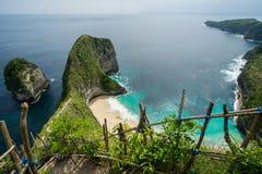 Kelingking plaża na Nusa Penida wyspie w Bali zdjęcia stock