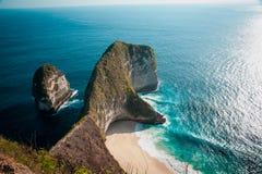 Kelingking plaża w Nusa Penida, Bali Indonezja zdjęcia stock