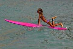 Kelis Kaleopa'a. Event: China Uemura & 88 Tees 27th Annual Longboard Surfing Classic, 22.VII.11 Stock Photography