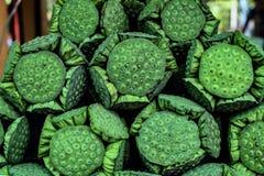 Kelk groene ruw, Lotus Seed royalty-vrije stock afbeeldingen