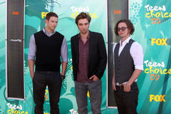 Kellan Lutz,Jackson Rathbone,Robert Pattinson,Jacksons Royalty Free Stock Photography