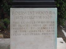 Keller von Bronzestatue Atalanta durch Bildhauer Derwent Wood in L stockbild