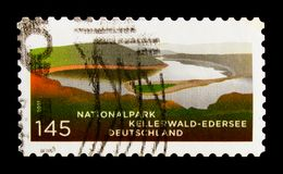 Kellerwald National Park, Forests and Lake, National Parks and Nature Reserves serie, circa 2011. MOSCOW, RUSSIA - OCTOBER 21, 2017: A stamp printed in German Royalty Free Stock Photography