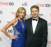 Kelley Ashby and Rend Paul. Arrive on the red carpet for Time's 100 Most Influential People gala at Rose Hall, Home of Jazz at Lincoln Center on April 29,2014 Stock Image