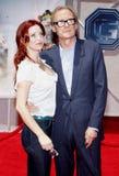 Kelli Garner och Bill Nighy royaltyfri bild