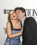 Kelli O'Hara och Jason Robert Brown arkivfoto