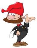 Kellner Gnome Lizenzfreies Stockfoto