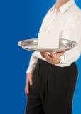 Kellner-Umhüllung mit Tellersegment Lizenzfreies Stockbild