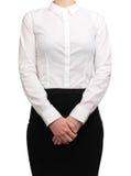 Kellnerin, die wartet, um Kunden zu dienen Lizenzfreie Stockbilder