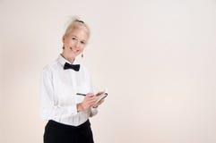 Kellnerin-Einrichtung Stockfoto