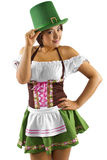 Kellnerin St. Patricks Tages Lizenzfreie Stockfotos