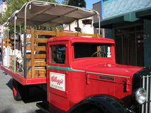 Kellogg's Truck. Old Kellogg's Truck on display at Disney's California Adventure. It has fruits on the bed of the truck Royalty Free Stock Image