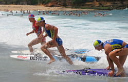 Kelloggs Nutri-Grain Surf Ironman competition. Athletes in the Kellogg's Nutri-Grain Surf Ironman Series competition in Australia Stock Images