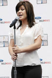 Kelly Clarkson at Galpin Ford. In Los Angeles announcing her partnership with Ford and her summer tour stock photography