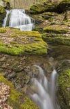 Kelly Hollow Double Falls arkivbild