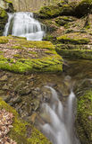 Kelly Hollow Double Falls Stock Photography
