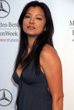 Kelly Hu. At day two of the 2007 Mercedes Benz Fashion Week. Smashbox Studios, Culver City, CA. 10-15-07 Stock Photo