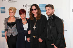 Kelly Osbourne, Sharon Osbourne,  Ozzy Osbourne and Jack Osborne Royalty Free Stock Image