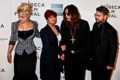 Kelly Osbourne, Sharon Osbourne,  Ozzy Osbourne and Jack Osborne Stock Photography