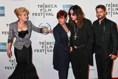 Kelly Osbourne, Sharon Osbourne,  Ozzy Osbourne and Jack Osborne Stock Photos