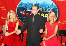 Kelly Ripa joins wax figures of herself and Regis Royalty Free Stock Photo