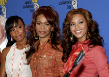 Kelly Rowland, Michelle Williams and Beyonce Knowles Royalty Free Stock Images