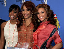 Kelly Rowland, Michelle Williams e Beyonce Knowles Fotografia de Stock Royalty Free