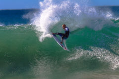 Kelly Slater Jeffreys Bay Surfing Stock Photography