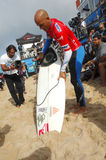 Kelly Slater(USA) in Rip Curl Pro Portugal Royalty Free Stock Photo