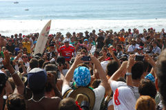 Kelly Slater(USA) in Rip Curl Pro Portugal Royalty Free Stock Image
