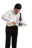 Kelner of barman op het werk Royalty-vrije Stock Foto