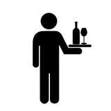 Kelner ikona Obraz Stock
