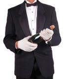 Kelner met Handdoek Royalty-vrije Stock Fotografie