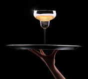 Kelner ręka z szampanem Zdjęcia Royalty Free