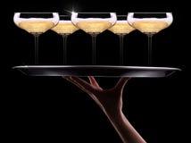 Kelner ręka z szampanem Fotografia Stock