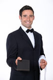 Kelner z menu Zdjęcia Stock