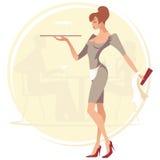 kelnerka ilustracji